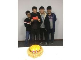 Strontium Chuangda Automation People Share Cakes and Dreams (November)