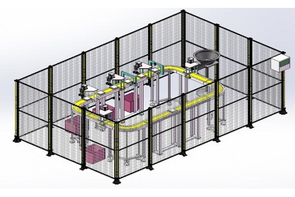 钣金件自动化组装检测环形线